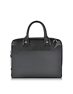 d0660eb4d1c5 Oversized Black Leather Duffle Bag from DSquared2 at FORZIERI ...