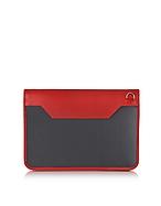 Aznom Custosia per iPad con Tracolla in Pelle e Carbonio - aznom - it.forzieri.com