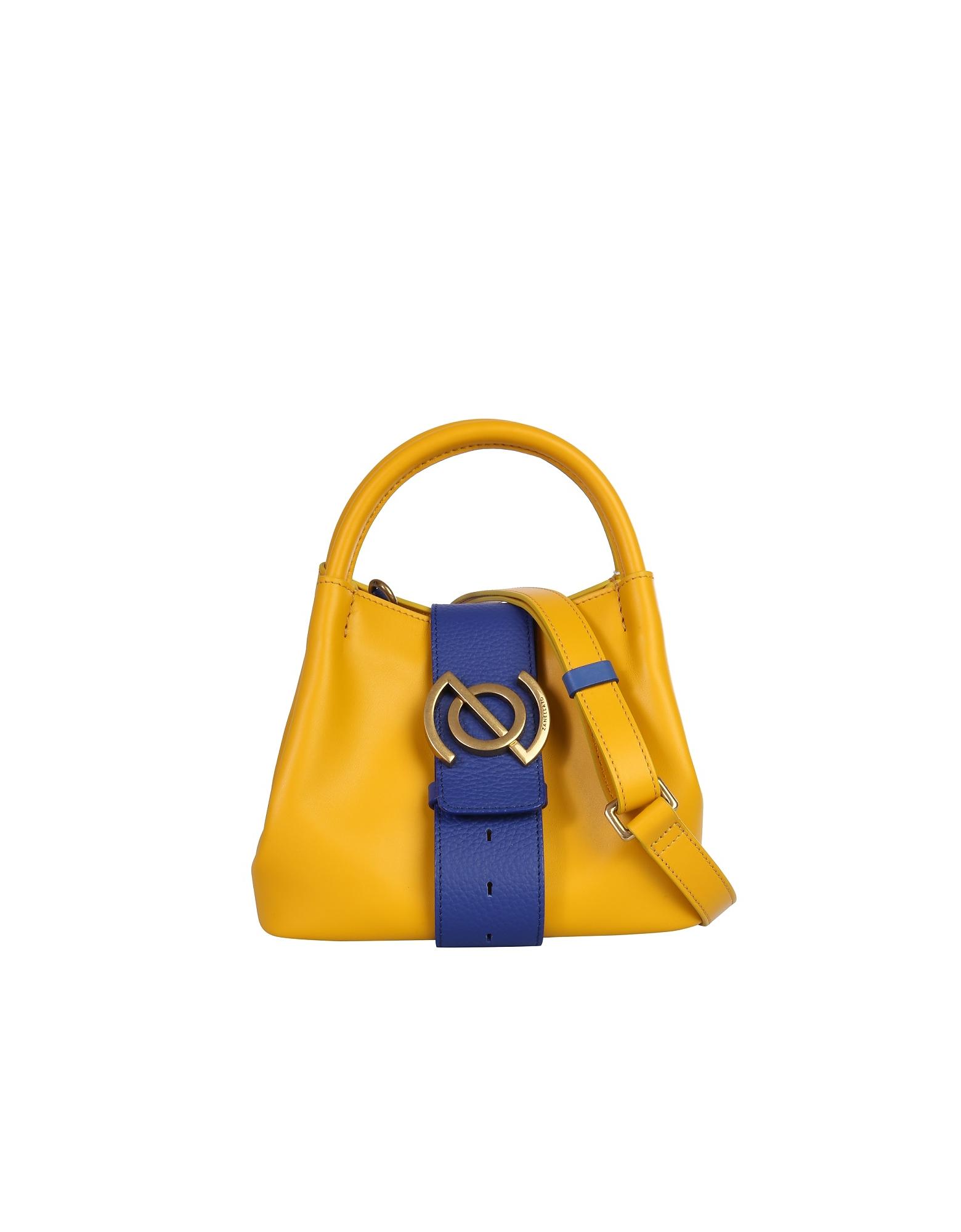 Zanellato Designer Handbags, Bright Yellow Zoe Mini Tote w/Shoulder Strap