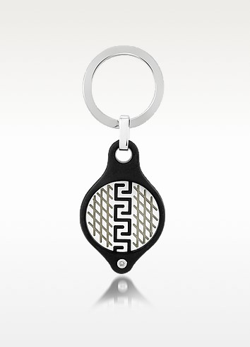 Speed Collection - Stainless Steel & Rubber Diamond Key Ring  - Zoppini