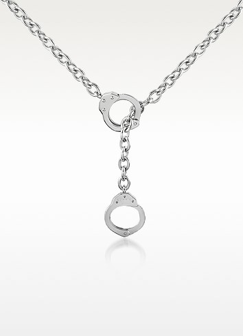 Zo-Chain Hand Cuffs Stainless Steel Necklace - Zoppini