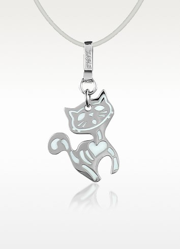 X-Ray - Stainless Steel Cat Pendant w/Lace - Zable