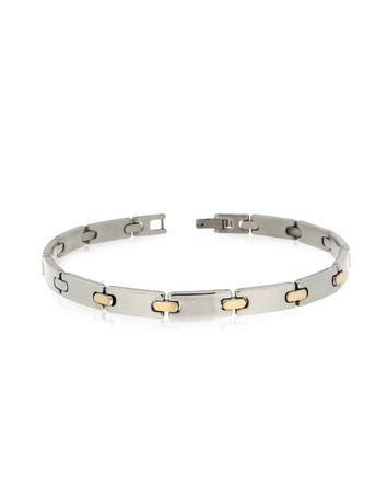 Zo-Chain Stainless Steel and 18K Gold Link Bracelet