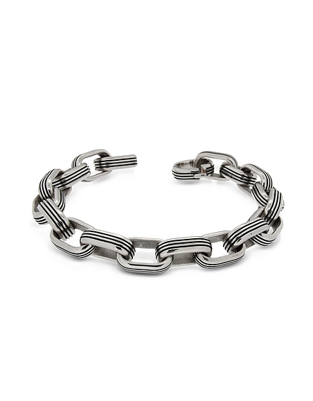 Zoppini Zo-Chain - Bracelet en Acier Inoxydable Argent avec Maillons Ovales