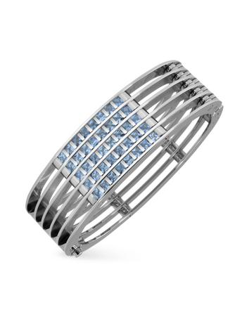 Zoppini Dare to Love - Stainless Steel and Spinel Stone Cuff Bracelet