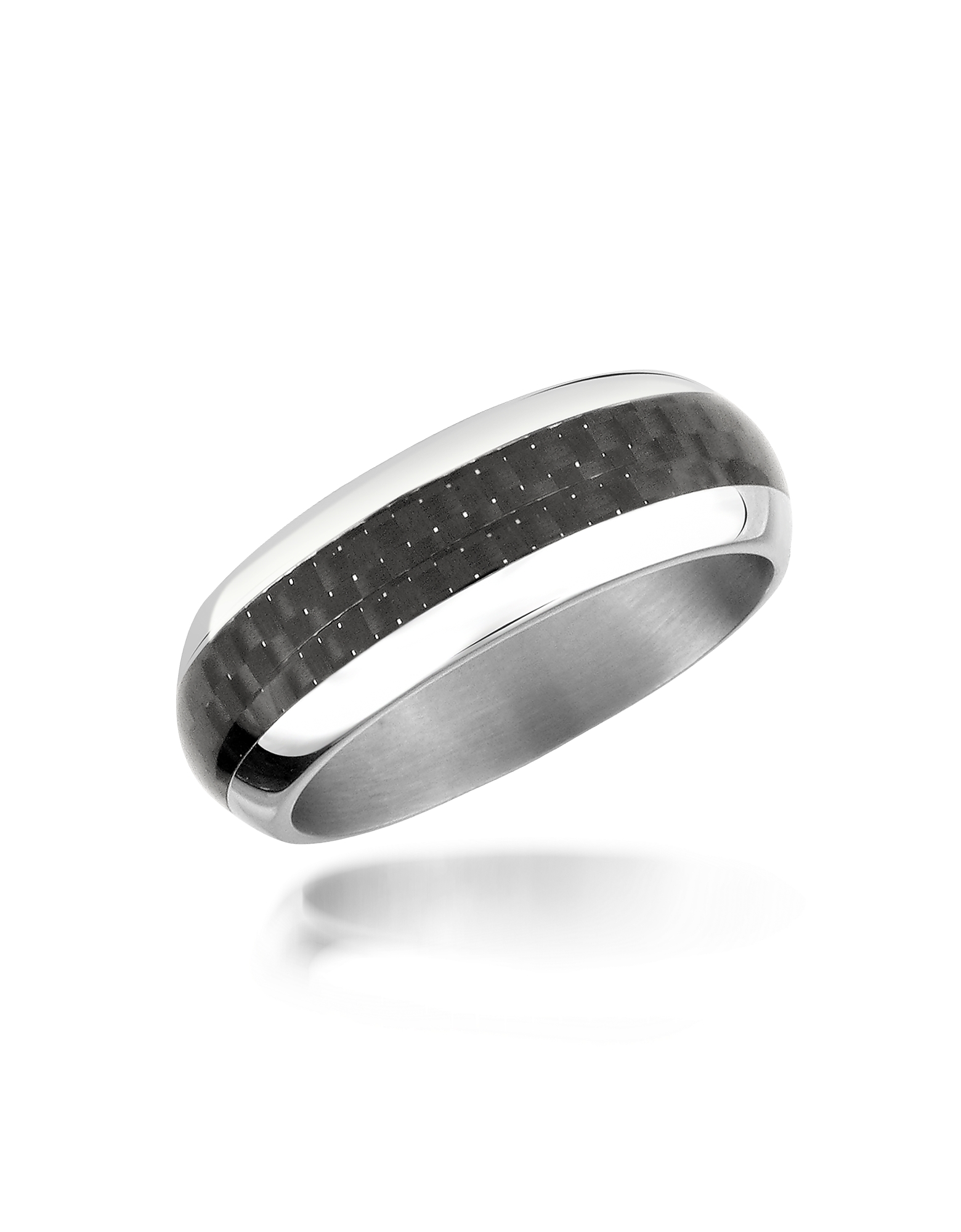 Zoppini Men's Rings, Zo Dark - Carbon Fiber & Stainless Steel Band Ring