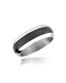 Zo Dark - Carbon Fiber & Stainless Steel Band Ring - Zoppini