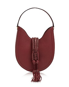 Ghianda Small Garnet Red Leather Knot Hobo Bag - Altuzarra