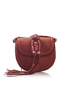 Ghianda Knot Garnet Red Leather Saddle Bag - Altuzarra