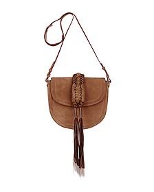 Ghianda Knot Suede Chocolate Saddle Bag - Altuzarra