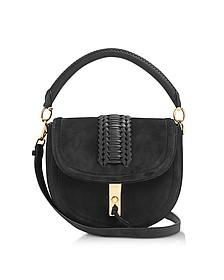 Black Suede Ghianda Top Handle Saddle Bag - Altuzarra