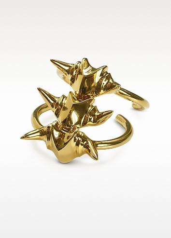 Animal Bones Golden Cuff Bracelet - Giuseppe Zanotti