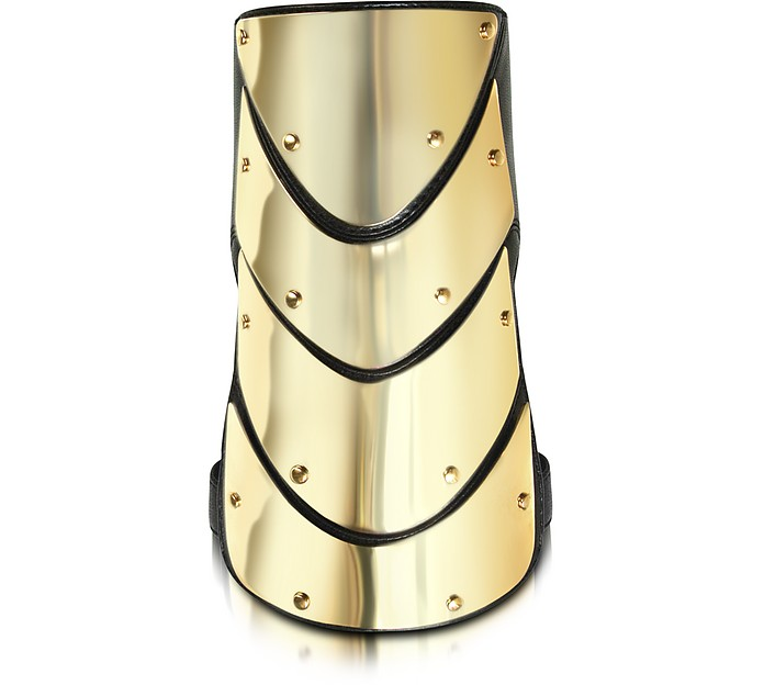 Brass and Nappa Leather Cuff Bracelet - Giuseppe Zanotti