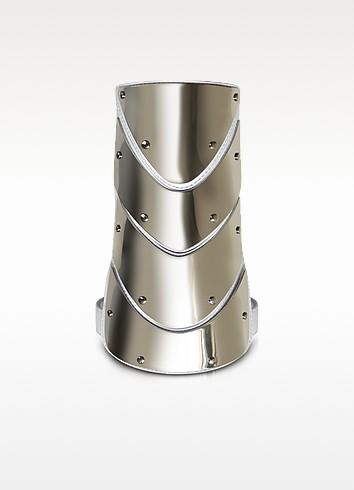Brass and Nappa Leather Cuff Bracelet - Giuseppe Zanotti