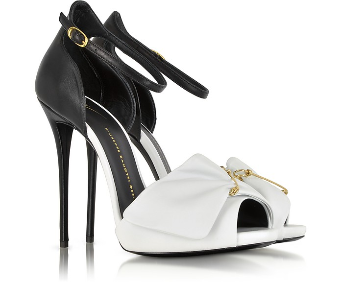 Black and White Pin Sandal - Giuseppe Zanotti