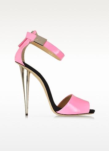 Neon Pink Patent Leather Sandal - Giuseppe Zanotti