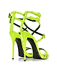 Neon Yellow Leather Ankle Strap Sandal - Giuseppe Zanotti