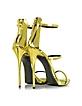 金色金属皮革凉鞋 - Giuseppe Zanotti