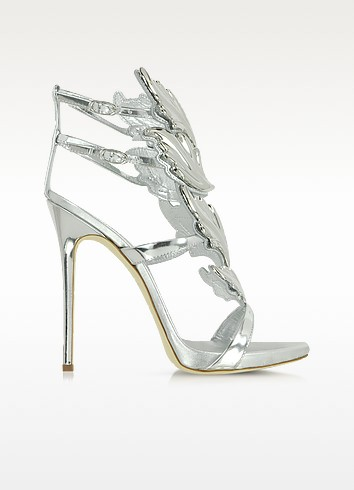 Sandales en cuir métallique argenté - Giuseppe Zanotti