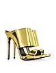 Gold Metallic Leather Sandal - Giuseppe Zanotti