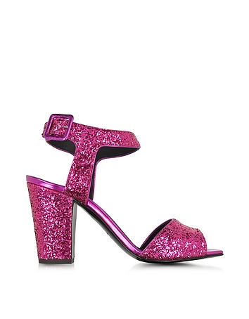 Emmanuelle Fuchsia Glitter Sandal