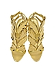 Cruel Gold Metallic Leather Sandal - Giuseppe Zanotti