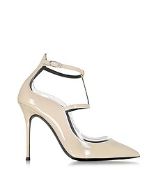 Rachael Sand Patent Leather Pump