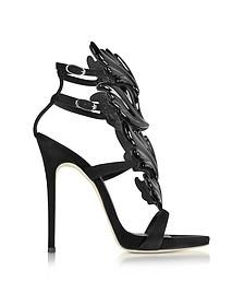 Black Suede High Heel Sandal - Giuseppe Zanotti