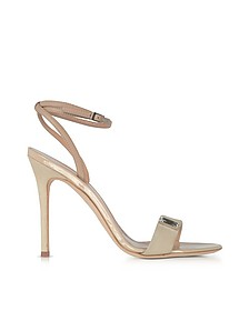 Beige Suede and Leather High Heel Sandal w/Crystal - Giuseppe Zanotti