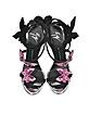 Black Suede Stiletto Sandals w/Pink Butterflies - Giuseppe Zanotti