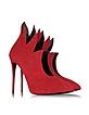 Olinda Flame Red Passion Suede Pump - Giuseppe Zanotti