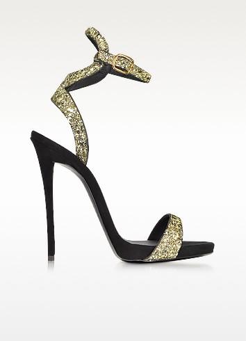 Gold Glitter Ankle Strap Sandal - Giuseppe Zanotti