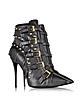 Yvette Jeti Black Leather Ankle Boot - Giuseppe Zanotti