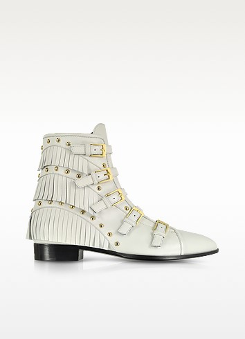 Studded and Fringe Leather Bootie - Giuseppe Zanotti