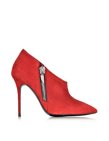 Alice Flame Red Suede Bootie