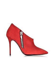 Alice Flame Red Suede Bootie - Giuseppe Zanotti