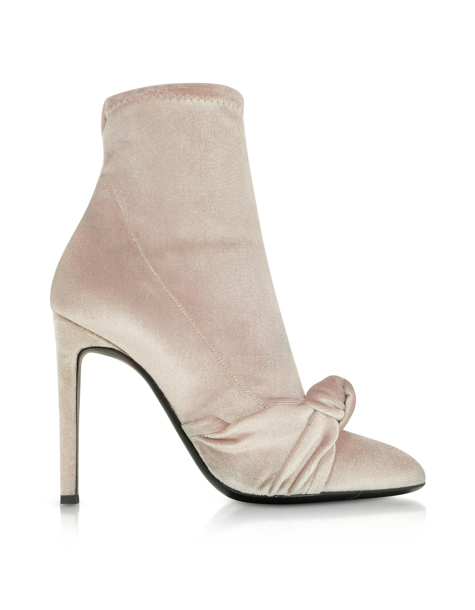Giuseppe Zanotti Bimba Phard Velvet Heel Stretch Boot w/Bow