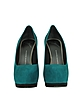 Petrol Blue and Gray Suede Pumps - Giuseppe Zanotti