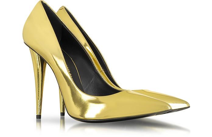 Gold Mirror Patent Leather Pump - Giuseppe Zanotti