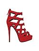 Red Suede Platform Sandal - Giuseppe Zanotti