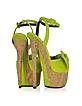 Lime Green Suede Platform Sandal - Giuseppe Zanotti