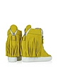 Yellow Suede Fringed Sneaker Wedge - Giuseppe Zanotti
