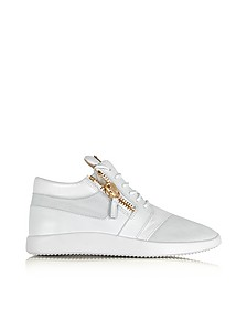 White Suede and Leather Men's Sneaker - Giuseppe Zanotti