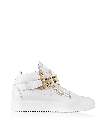 White Leather High Top Men's Sneaker