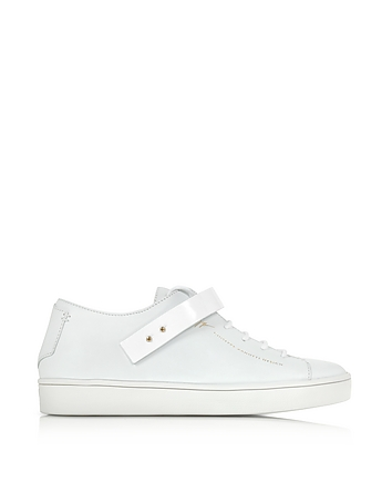 White Leather Low Top Men's Sneaker