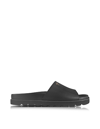 Giuseppe Zanotti - Black Leather Men's Sandal