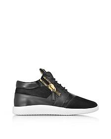 Sneakers Basses Homme en Cuir et Suède Noir - Giuseppe Zanotti