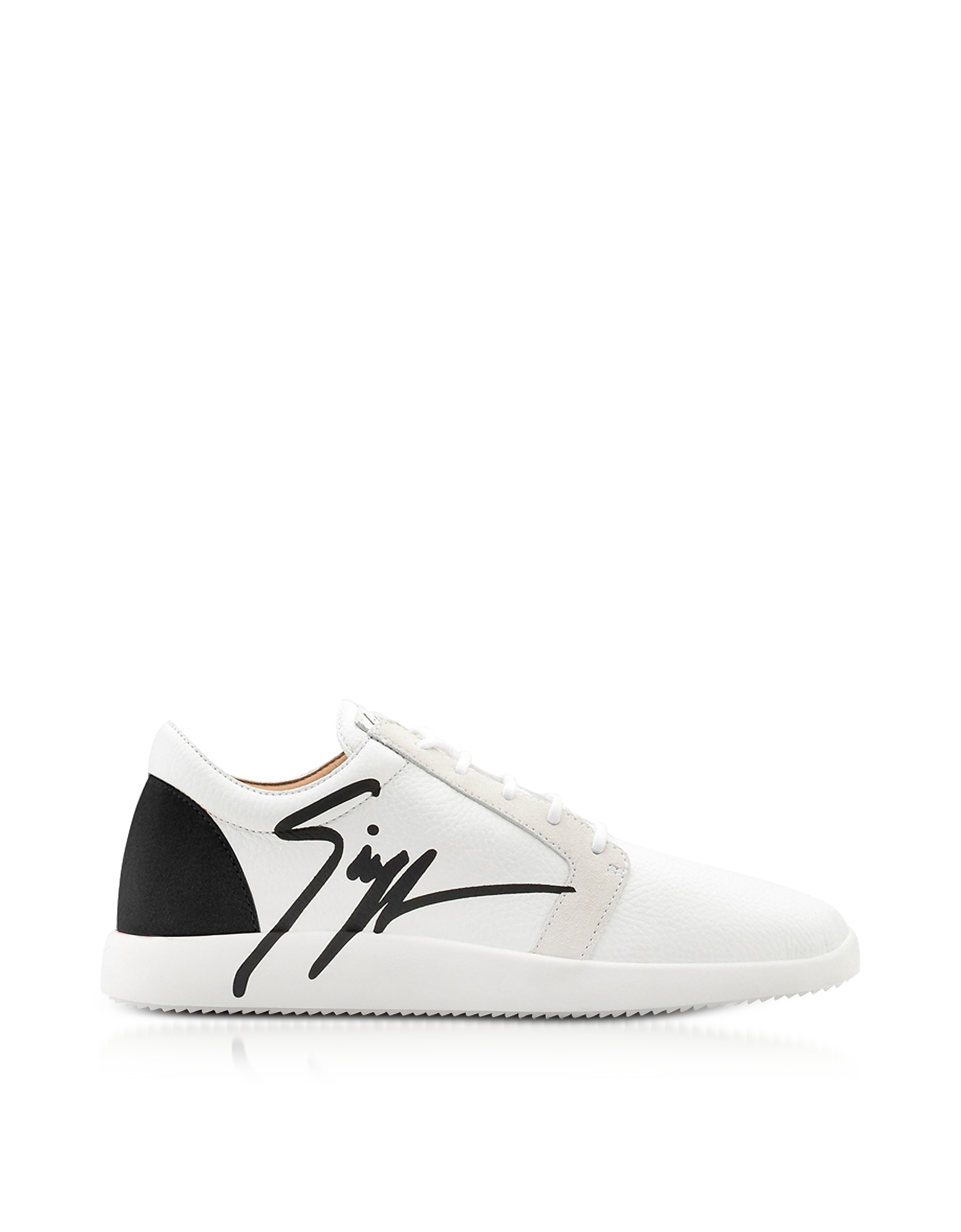 Giuseppe Zanotti Shoes, G Runner Black and White Low Top Men's Sneakers