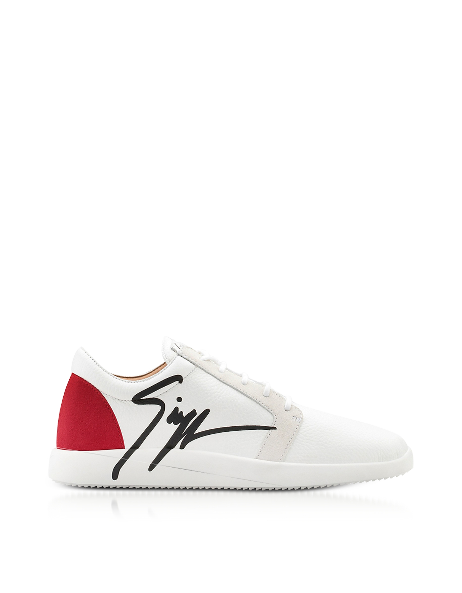 Giuseppe Zanotti Shoes, G Runner Red and White Low Top Men's Sneakers