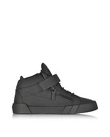 Sneakers Montantes Homme en Cuir Noir - Giuseppe Zanotti